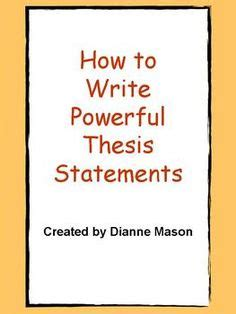 How to Write a Thesis Statement - Video & Lesson